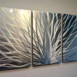 Artwork on floater in triptych format