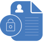 Privacy icon with padlock