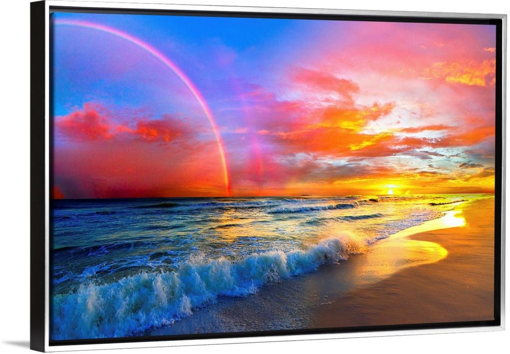 Pink Sunset Beach